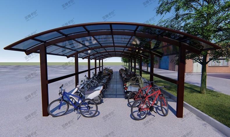 自行停车棚效果图新出炉